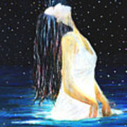 Surrender Art Print by NARI - Mother Earth Spirit