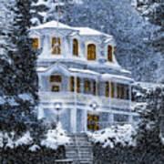 Susanville Elks Lodge At Christmas Art Print