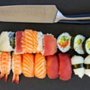 Sushi And Knife Art Print