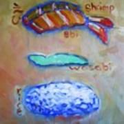 Sushi Deconstructed Art Print by Sheila Tajima