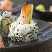 Sushi In Restaurant Art Print