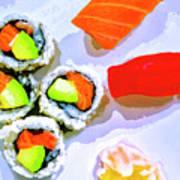 Sushi Plate 6 Art Print