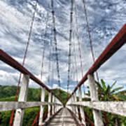 Suspended Bridge Art Print
