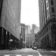 Sutter Street - San Francisco Street View Black And White  Art Print