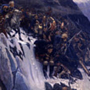 Suvorov Crossing The Alps In 1799 Art Print