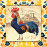 Suzani Rooster 1 Art Print
