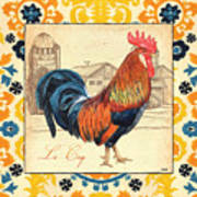 Suzani Rooster 2 Art Print