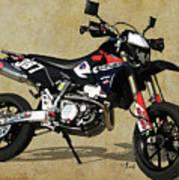 Suzuki Race Motorcycle. 387. Art Print