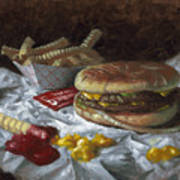 Suzy-q Double Cheeseburger Art Print by Timothy Jones
