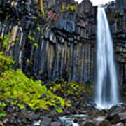 Svartifoss Waterfall - Iceland Art Print