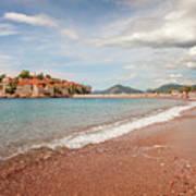 Sveti Stefan Island Iconic Landmark Art Print