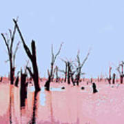 Swamp And Dead Trees Art Print