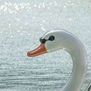 Swan Boat In The Lake Art Print