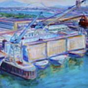 Swan Island Poetry - Large Original Contempory Impressionist Painting Art Print