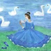 Swan Lake Reader Art Print