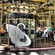 Swan Seat At The Carousel  Art Print