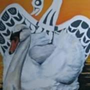 Swan Totem Art Print