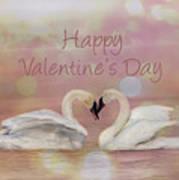 Swan Valentine Art Print