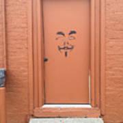 Swann Door Art Print