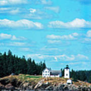 Swans Island Lighthouse Art Print