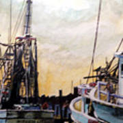 Swansboro Shrimp Boats Art Print