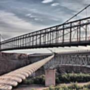 Swayback Suspension Bridge Art Print