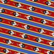 Swaziland Flag 3 Art Print
