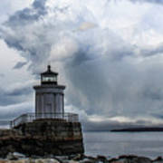 Sweeping Clouds Over Bug Light Art Print