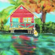 Sweet Island Home Art Print