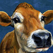 Sweet Jersey Cow Art Print