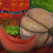 Sweet Juicy Cantalope Art Print