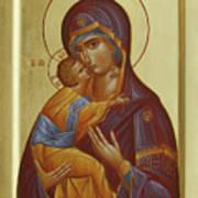 Sweet Kissing Mother Of God Art Print by Julia Bridget Hayes