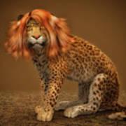 Sweet Lady Leopard Art Print