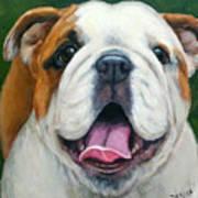 Sweet Little English Bulldog Art Print