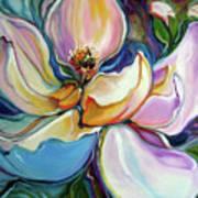 Sweet Magnoli Floral Abstract Art Print