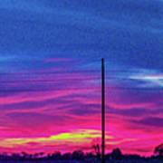 Sweet Nebraska Sunset 006 Art Print