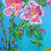 Sweet Pea Flowers On A Vine Art Print