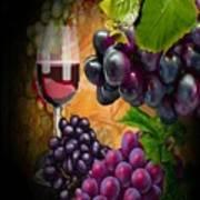 Sweet Red Wine # 3 Art Print