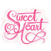 Sweetheart Print by Cindy Garber Iverson