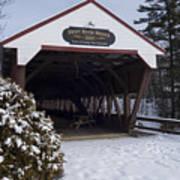 Swift River Bridge Conway New Hampshire Art Print