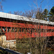 Swift River Covered Bridge Art Print