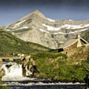 Swiftcurrent Falls Glacier Park 1 Art Print