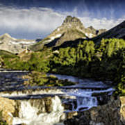 Swiftcurrent Falls Glacier Park 3 Art Print