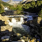 Swiftcurrent Falls Glacier Park 4 Art Print