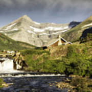 Swiftcurrent Falls Glacier Park Art Print