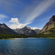 Swiftcurrent Lake - Glacier Np Art Print