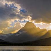 Swiftcurrent Lake Sundown Glacier N P Art Print