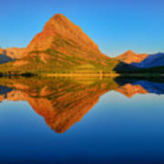 Swiftcurrent Morning Reflections Art Print