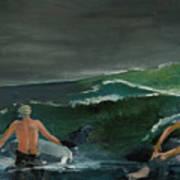 Swim At Your Own Risk Art Print