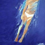 Swimmer Ascending Art Print